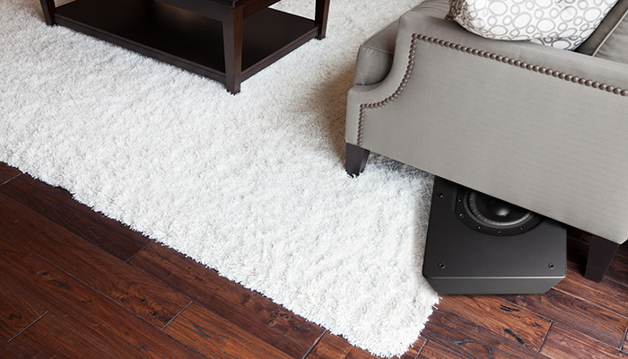 Place this wireless subwoofer anywhere, even under a sofa