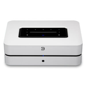 White POWERNODE streaming amplifier, front view
