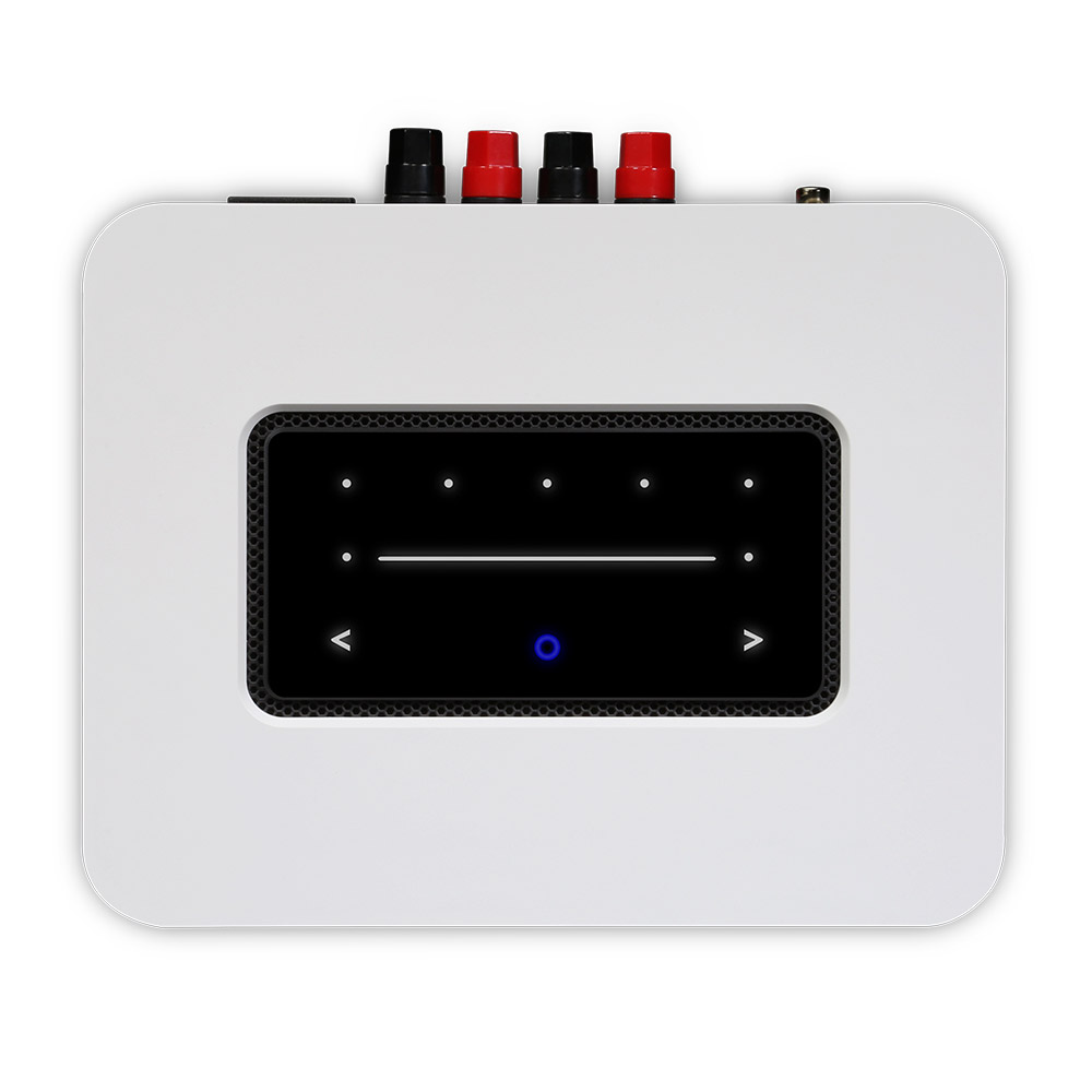 White POWERNODE streaming amplifier, top view