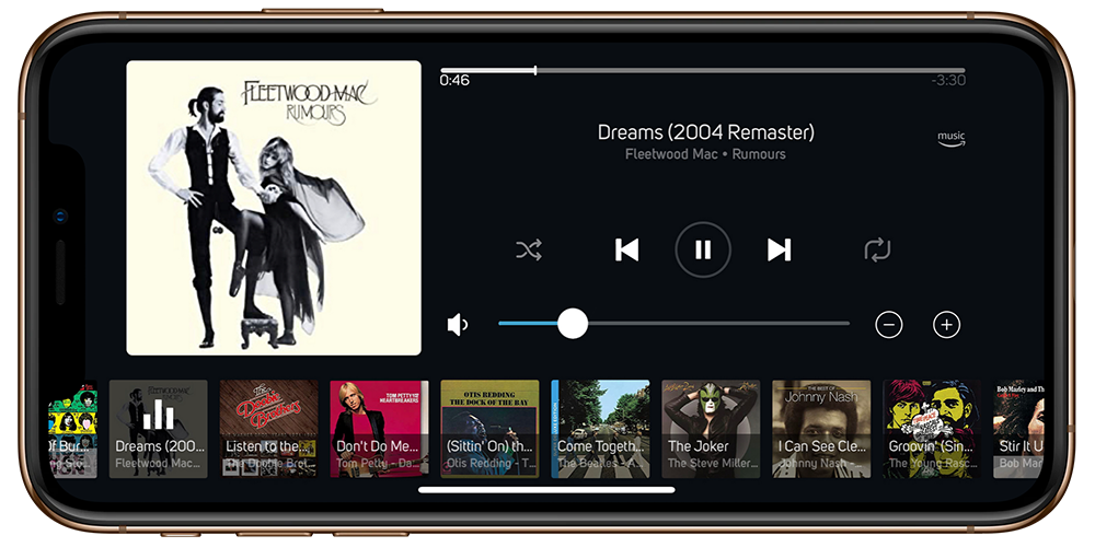 Listen to music on over 20 audio streaming services